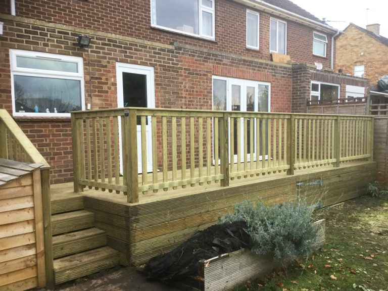 Decking and balustrade
