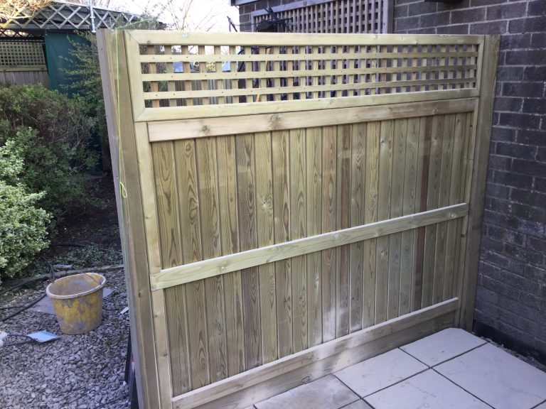 Fence with Trellis Top